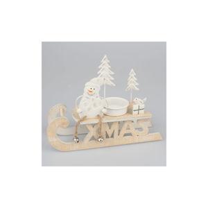Dřevěná dekorace ve tvaru saní Dakls