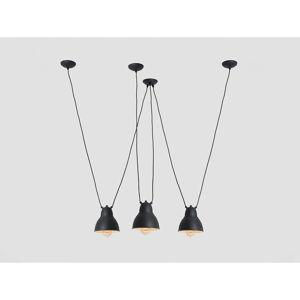 Černé trojité závěsné svítidlo s detailem ve zlaté barvě Custom Form Coben Fix