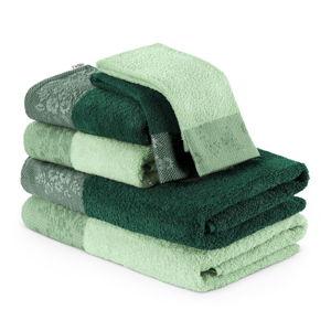 Sada 6 zelených ručníků aosušek AmeliaHome