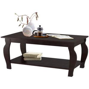 Tmavě hnědý konferenční stolek z borovicového dřeva Støraa Maria