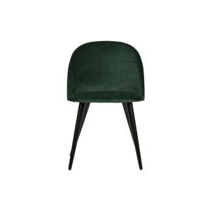 Sada 2 tmavě zelených jídelních židlí WOOOD Fay