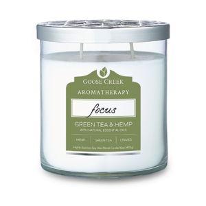 Vonná svíčka ve skleněné dóze Goose Creek Hemp & Green tea, 60 hodin hoření