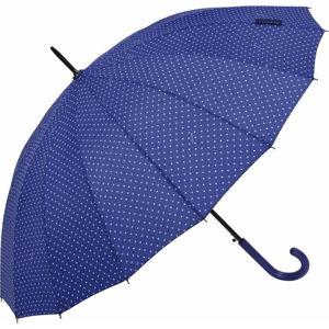 Tmavě modrý holový deštník Ambiance Triangles, ⌀122cm