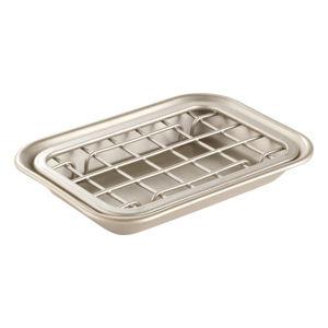 Mýdlenka ve stříbrné barvě iDesign Gia, 13x8cm