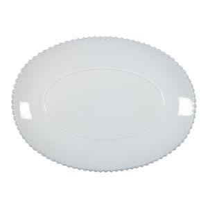 Bílý kameninový oválný tác Costa Nova Pearl, šířka 40 cm