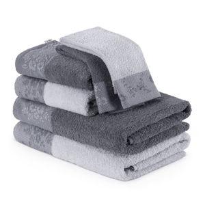 Sada 6šedých ručníků aosušek AmeliaHome