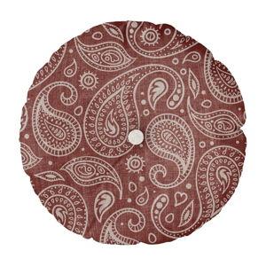 Polštář Linen Couture Cojin Redondo Paisley, ⌀ 45 cm
