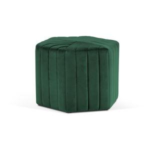 Lahvově zelený puf Milo Casa Alice, ⌀60cm