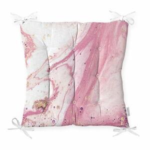 Podsedák s příměsí bavlny Minimalist Cushion Covers Pinky Abstract,40x40cm