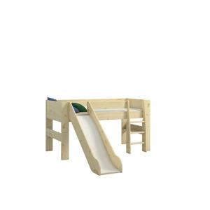 Dětská patrová postel z borovicového dřeva se skluzavkou Steens For Kids, výška 113cm