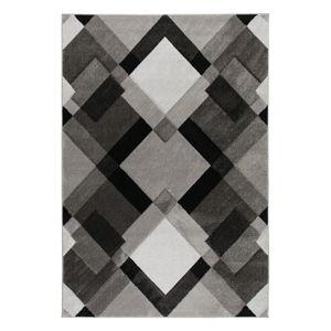 Šedý koberec Flair Rugs Nimbus Grey White, 120 x 170 cm