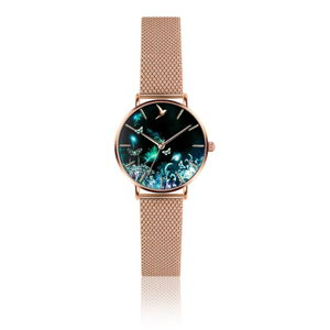 Dámské hodinky s páskem z nerezové oceli v růžovozlaté barvě Emily Westwood Forest