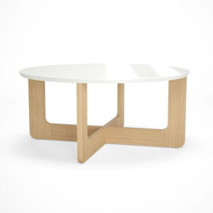 Bílý dřevěný konferenční stolek Artemob Charlie