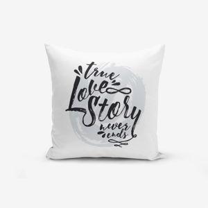 Povlak na polštář s příměsí bavlny Minimalist Cushion Covers Love Story,45x45cm