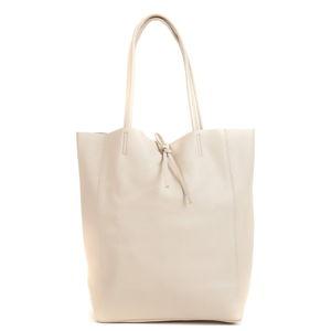 Světle béžová dámská kožená kabelka Sofia Cardoni Shopper