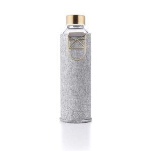 Skleněná láhev z borosilikátového skla s plstěným obalem Equa Mismatch Gold,750ml