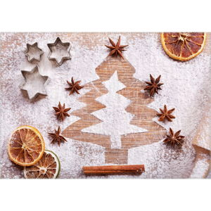 Koberec Vitaus Christmas Period Tree Shape, 50 x 80 cm
