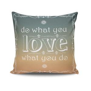 Polštář s příměsí bavlny Simple Love, 45x45cm