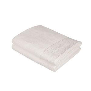 Sada 2 bílých bavlněných osušek Ressmo, 90 x 150 cm