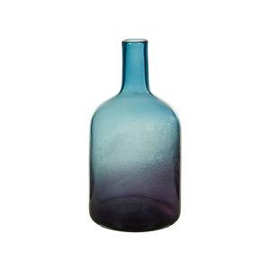 Modrá křišťálová dekorativní váza Santiago Pons Ryde, výška35cm