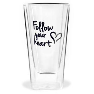 Dvojitá sklenice Vialli Design Follow Your Heart, 300ml
