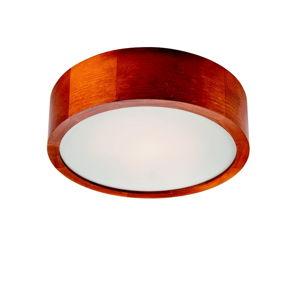 Hnědé kruhové stropní svítodlo Lamkur Plafond, ø 27 cm