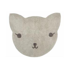 Koberec z bavlny ve tvaru kočky Nattiot, 85 x 100 cm