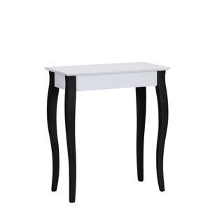 Bílý konzolový stolek s černými nohami Ragaba Lilo, šířka 65cm