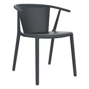 Sada 2 tmavě šedých zahradních židlí Resol Steely