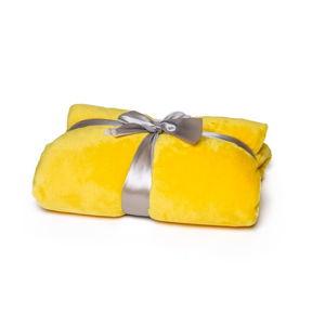 Žlutá deka Tarami, 200 x 150 cm