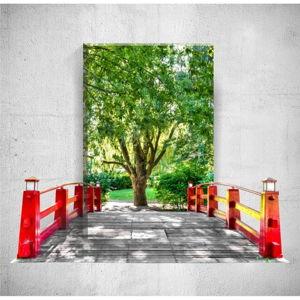 Nástěnný 3D obraz Mosticx Bridge To The Tree, 40 x 60 cm