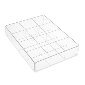 Průhledný úložný box s přihrádkami Versa Multi White Tray