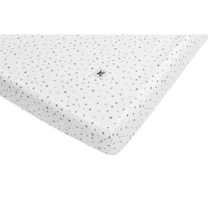 Dětské bavlněné prostěradlo BELLAMY Dots, 90x200cm