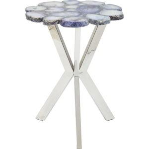 Modrý odkládací stolek Kare Design Trasury, ⌀40cm
