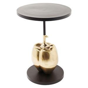 Černý designový odkládací stolek Kare Design Pumpkin, ø 55 cm