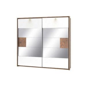 Šatní skříň se zrcadlovými skly a 2 posuvnými dveřmi Szynaka Meble Livorno