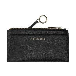 Černé kožená peněženka Michael Kors Nova