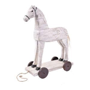 Bílá vánoční dekorace ve tvaru koně Ego Dekor