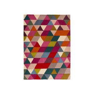 Vlněný koberec Flair Rugs Illusion Prism Pink Triangles, 120 x 170 cm