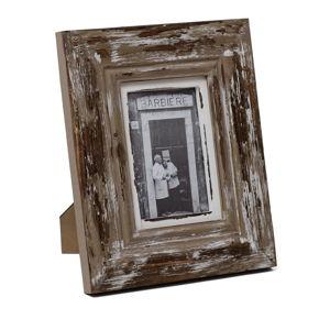 Hnědý dřevěný fotorámeček Ego Dekor, na fotografii 13x18cm