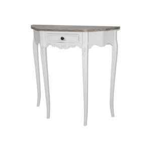 Bílý konzolový stůl z topolového dřeva Livin Hill Rimini