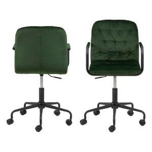 Zelená kancelářská židle se sametovým povrchem Actona Wendy