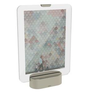 LED rámeček na fotografii se základem v šedé barvě Umbra Glo, 13x18cm