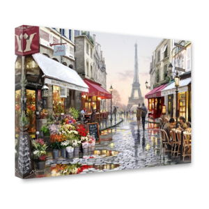 Obraz Styler Canvas Watercolor Paris I, 60 x 80 cm