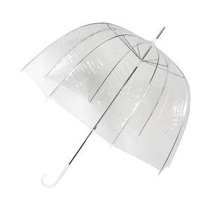 Transparentní větruodolný holový deštník Ambiance Birdcage Falconetti, ⌀77cm