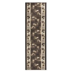 Hnědý běhoun Hanse Home Retro, 80x400 cm
