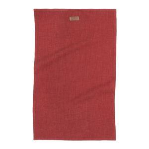 Vínově červená utěrka s příměsí lnu Tiseco Home Studio, 42 x 68 cm