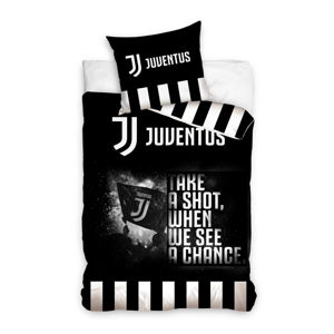 Dětské bavlněné povlečení na jednolůžko CARBOTEX Juventus BW III, 160 x 200 cm