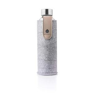 Skleněná láhev z borosilikátového skla s plstěným obalem Equa Mismatch Sand Sky,750ml