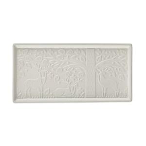 Bílý kameninový servírovací tác Mason Cash In the Forest, 30 x 15 cm
